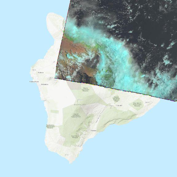 July 19, 2021 Sentinel-2 image of the big island
