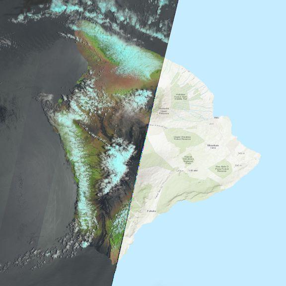 July 21, 2021 Sentinel-2 image of the big island