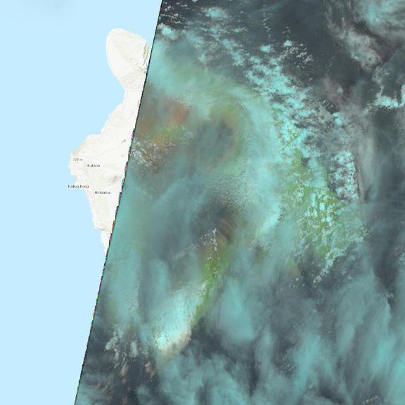July 24, 2021 Sentinel-2 image of the big island