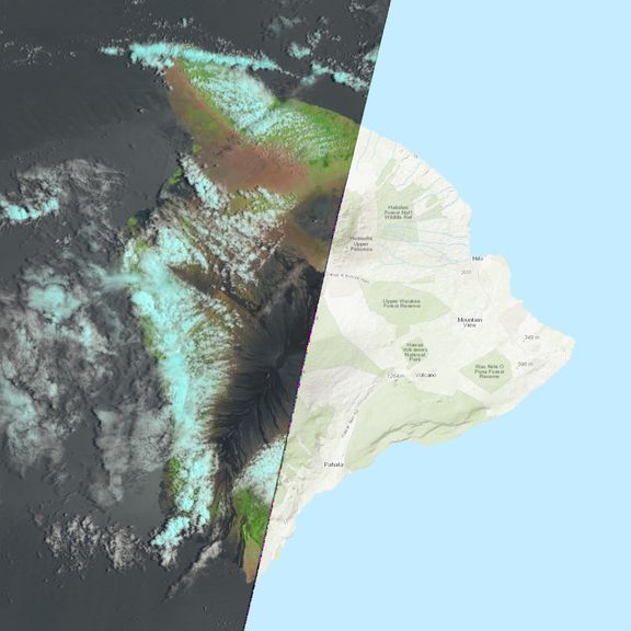 July 26, 2021 Sentinel-2 image of the big island