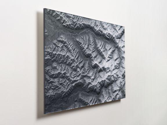 Mount Olympus Map on Acrylic