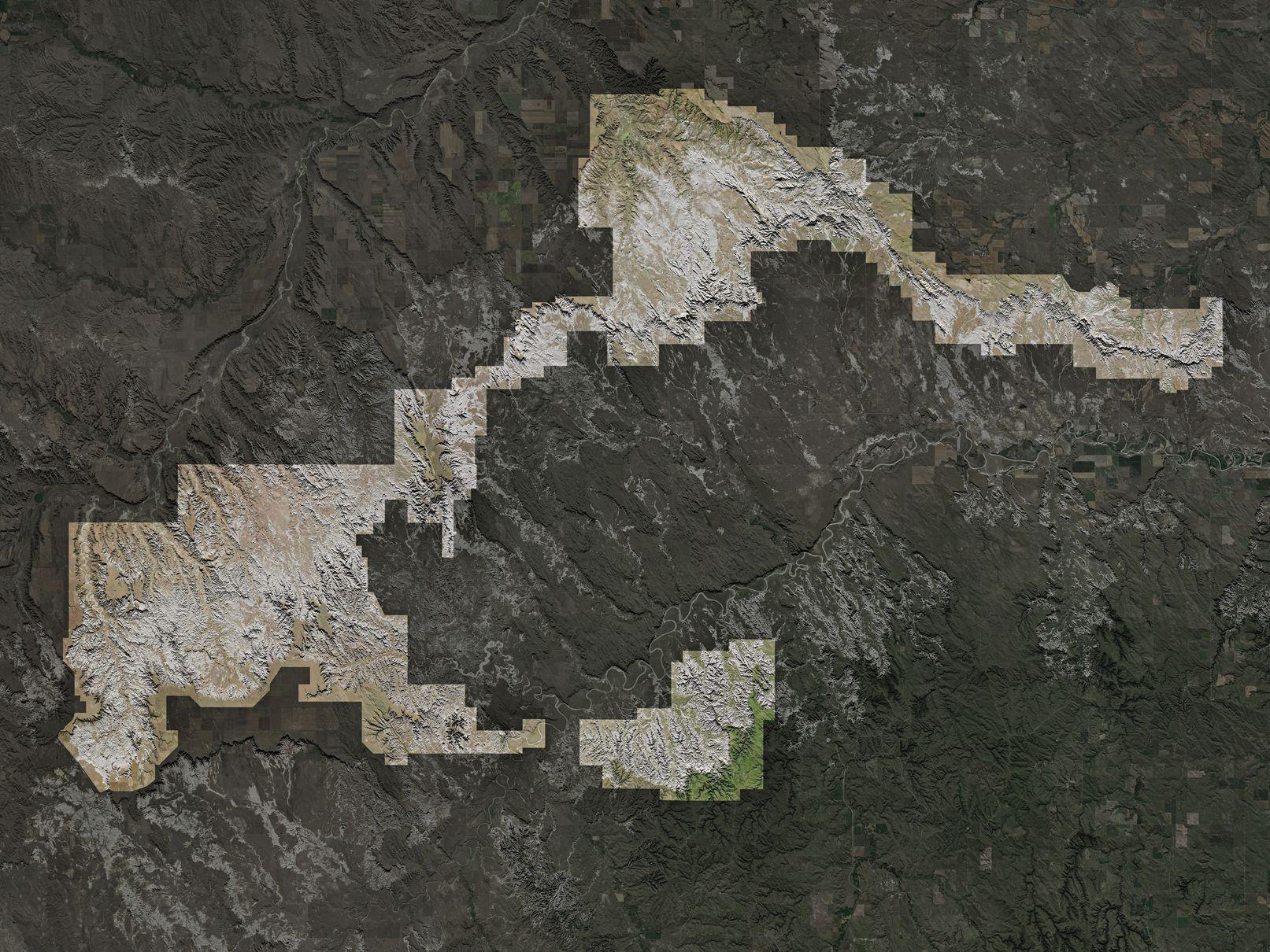 Map of Badlands National Park