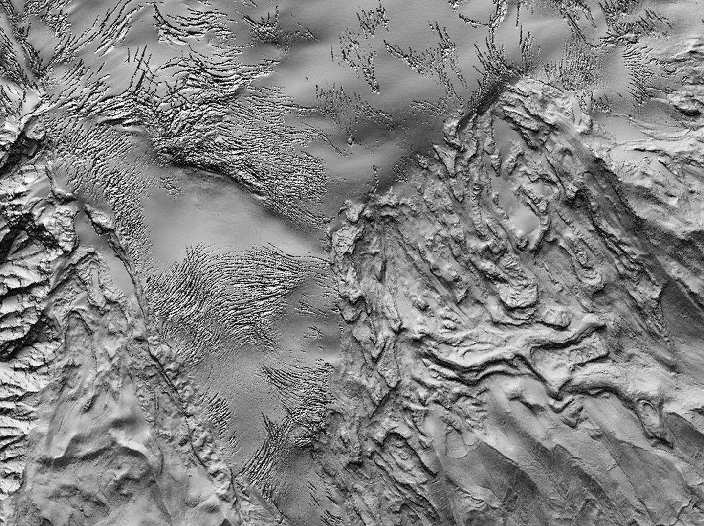 Mount Baker Map Glaciers Detail