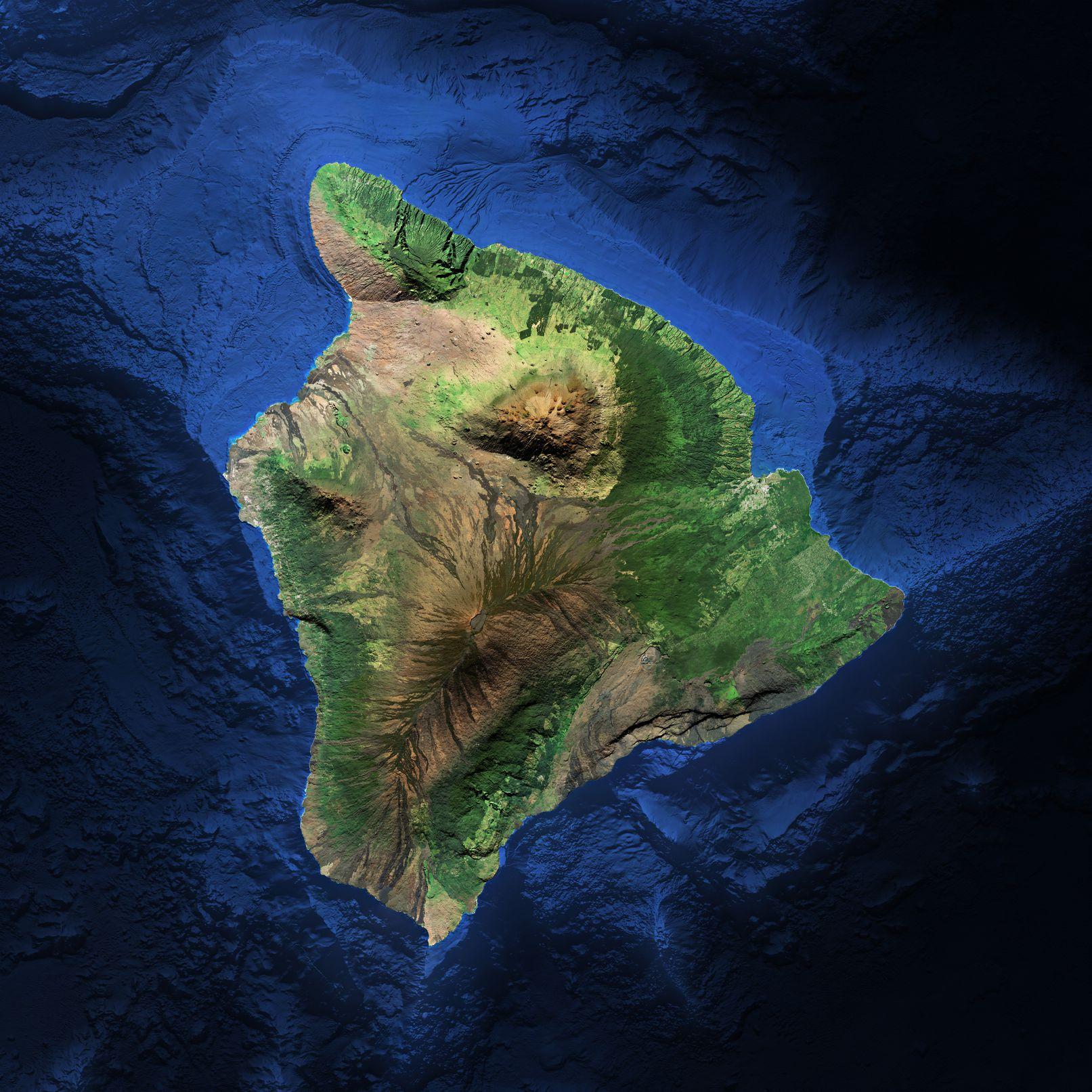 Map of Big Island of Hawaii