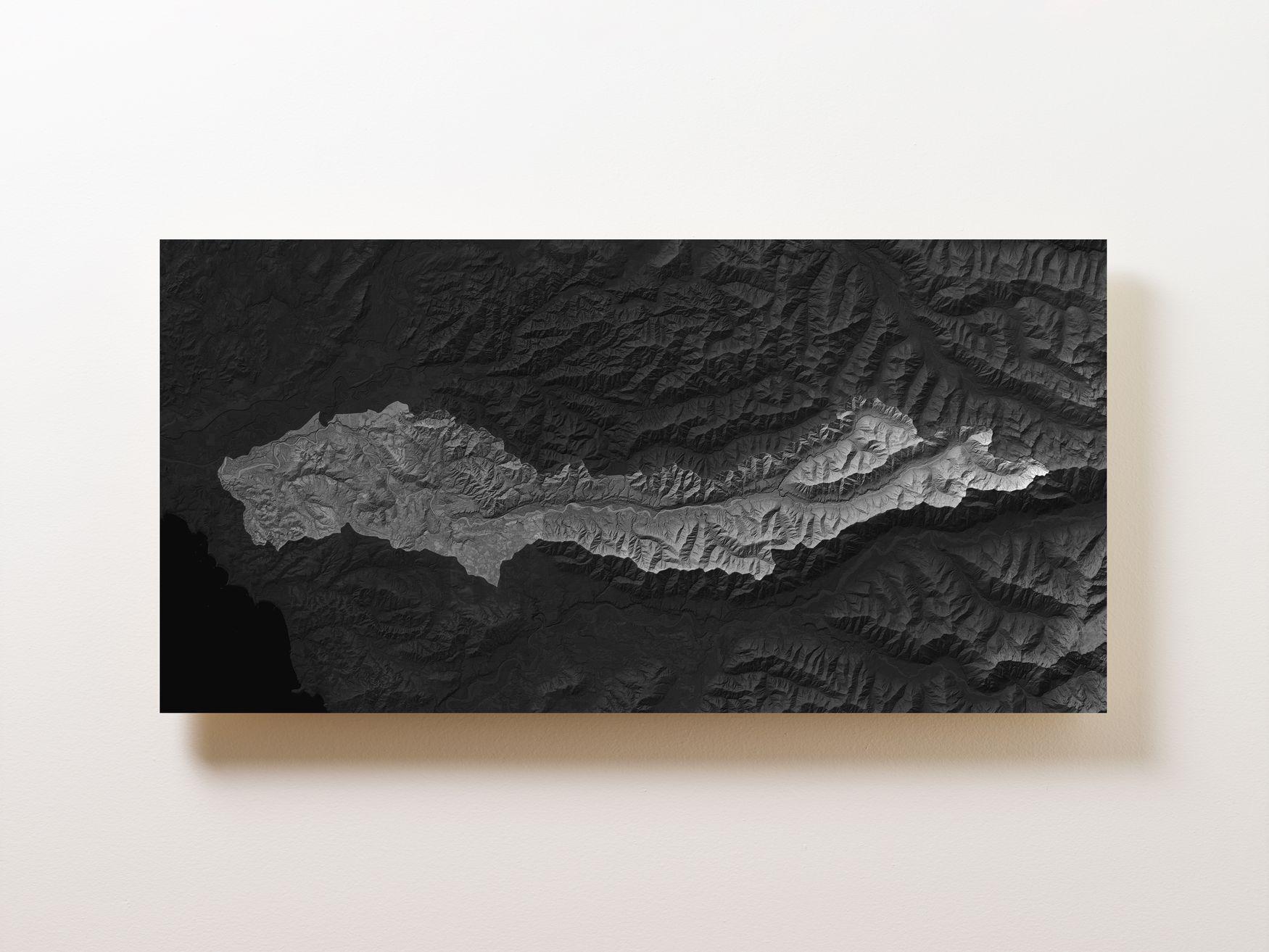 Bogachiel River Rainforest Wall Map