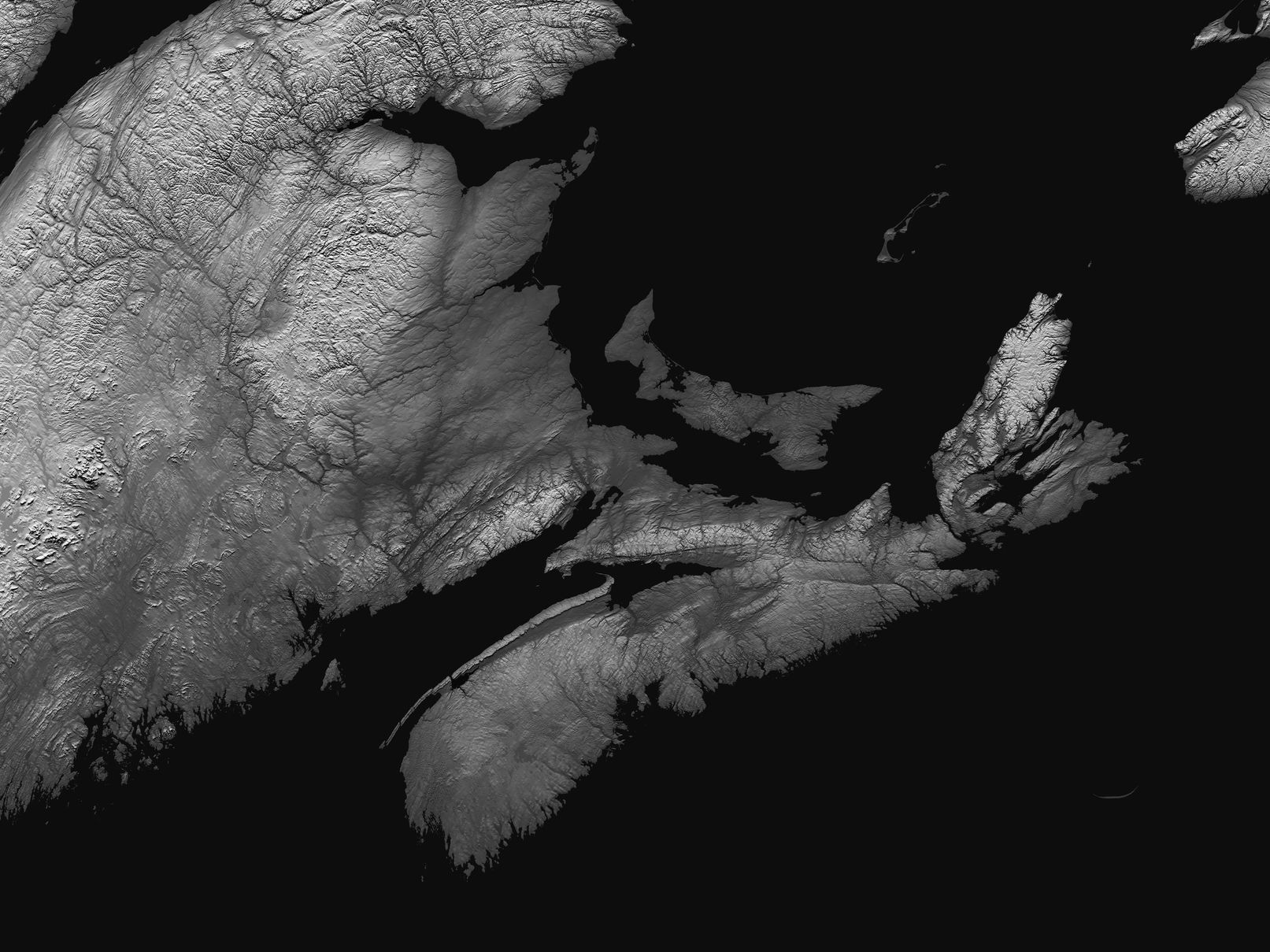 Map of Canadian Maritimes