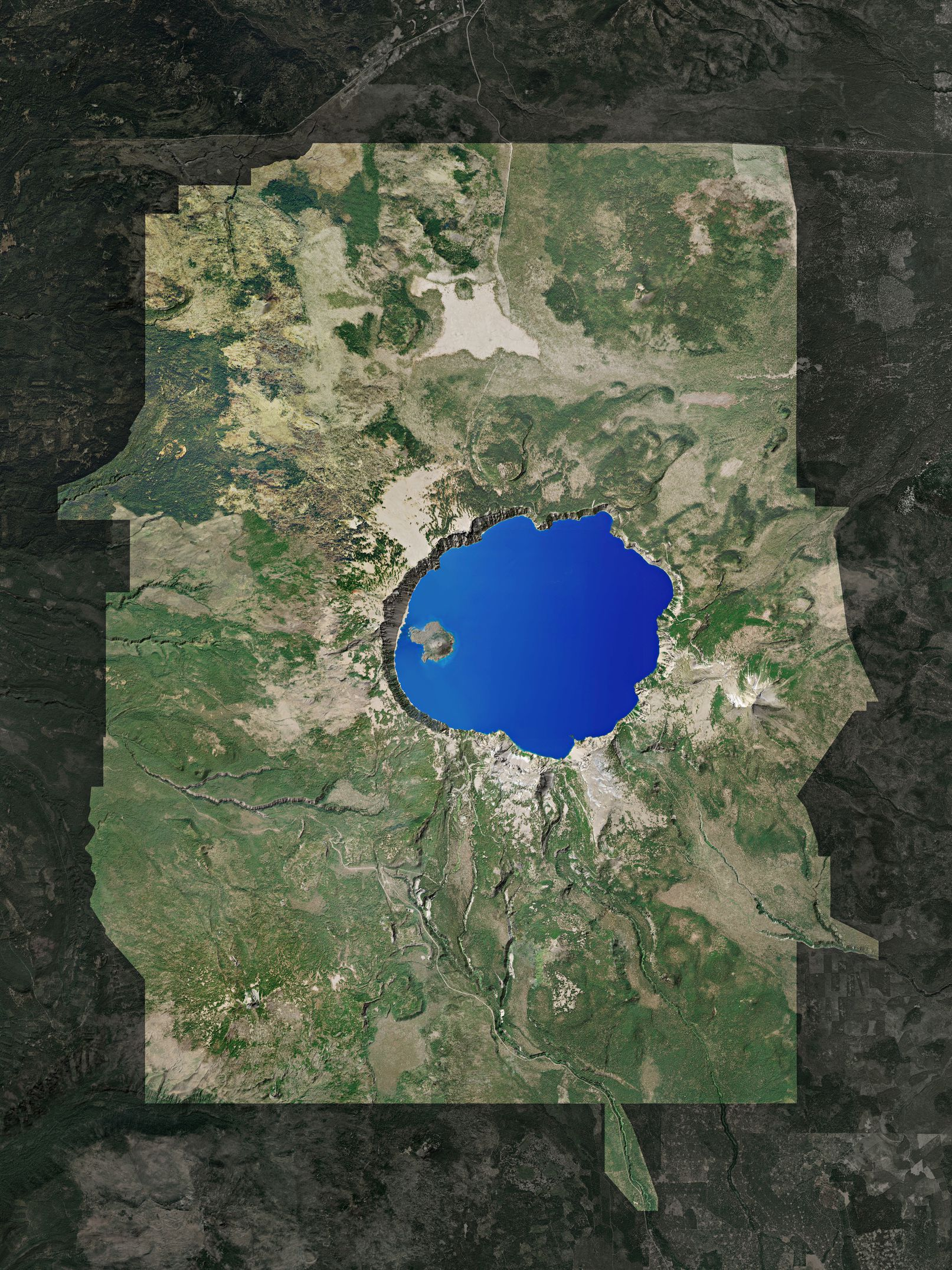 Map of Crater Lake National Park
