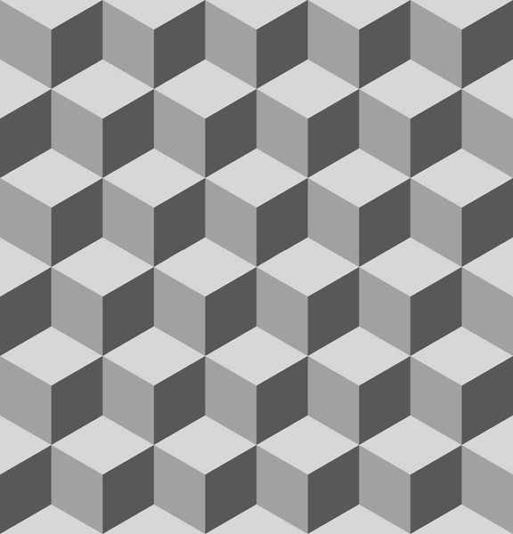 An image of cubes that illustrates the effect of light and shadows.