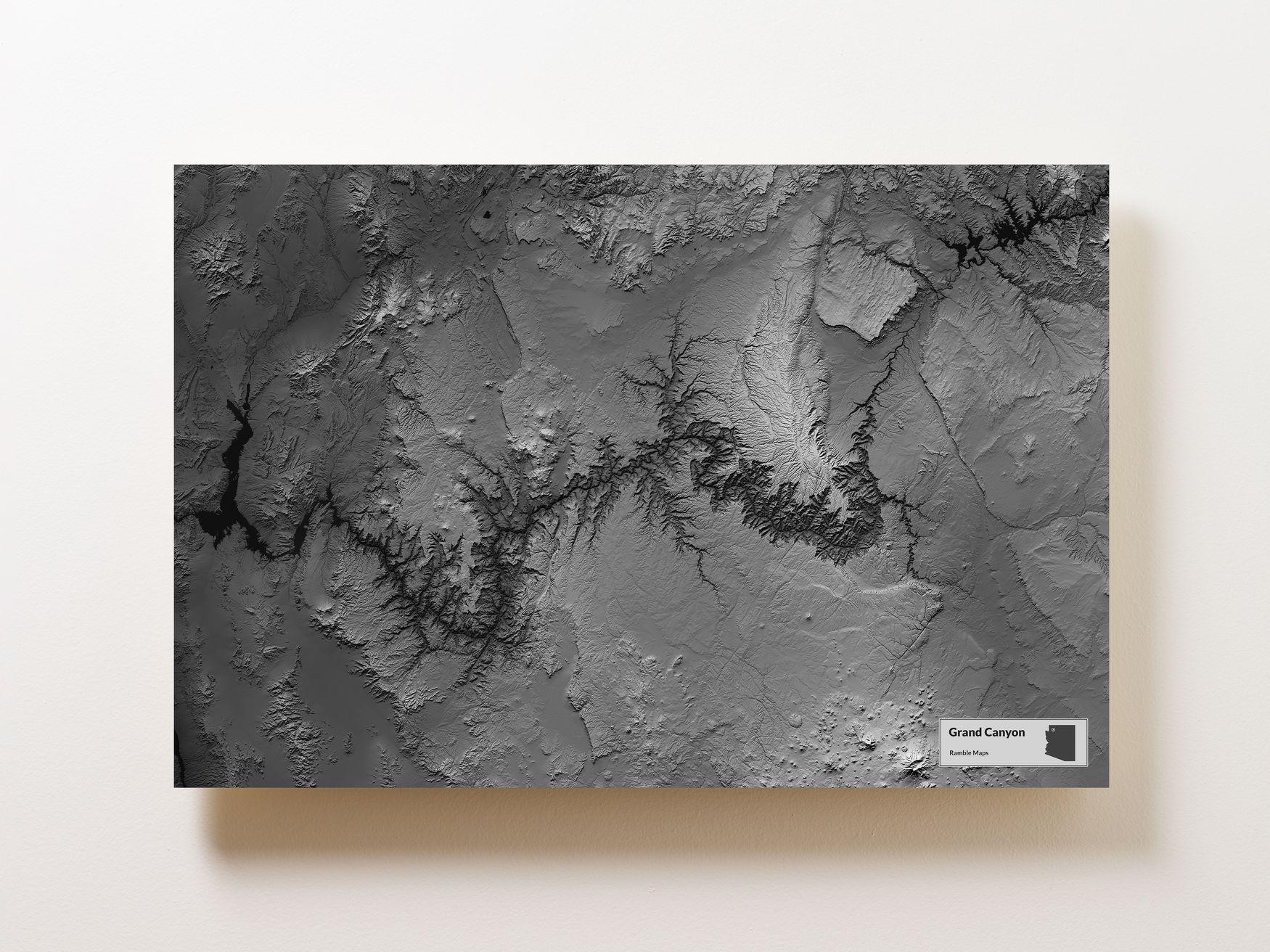 Grand Canyon Terrain Map