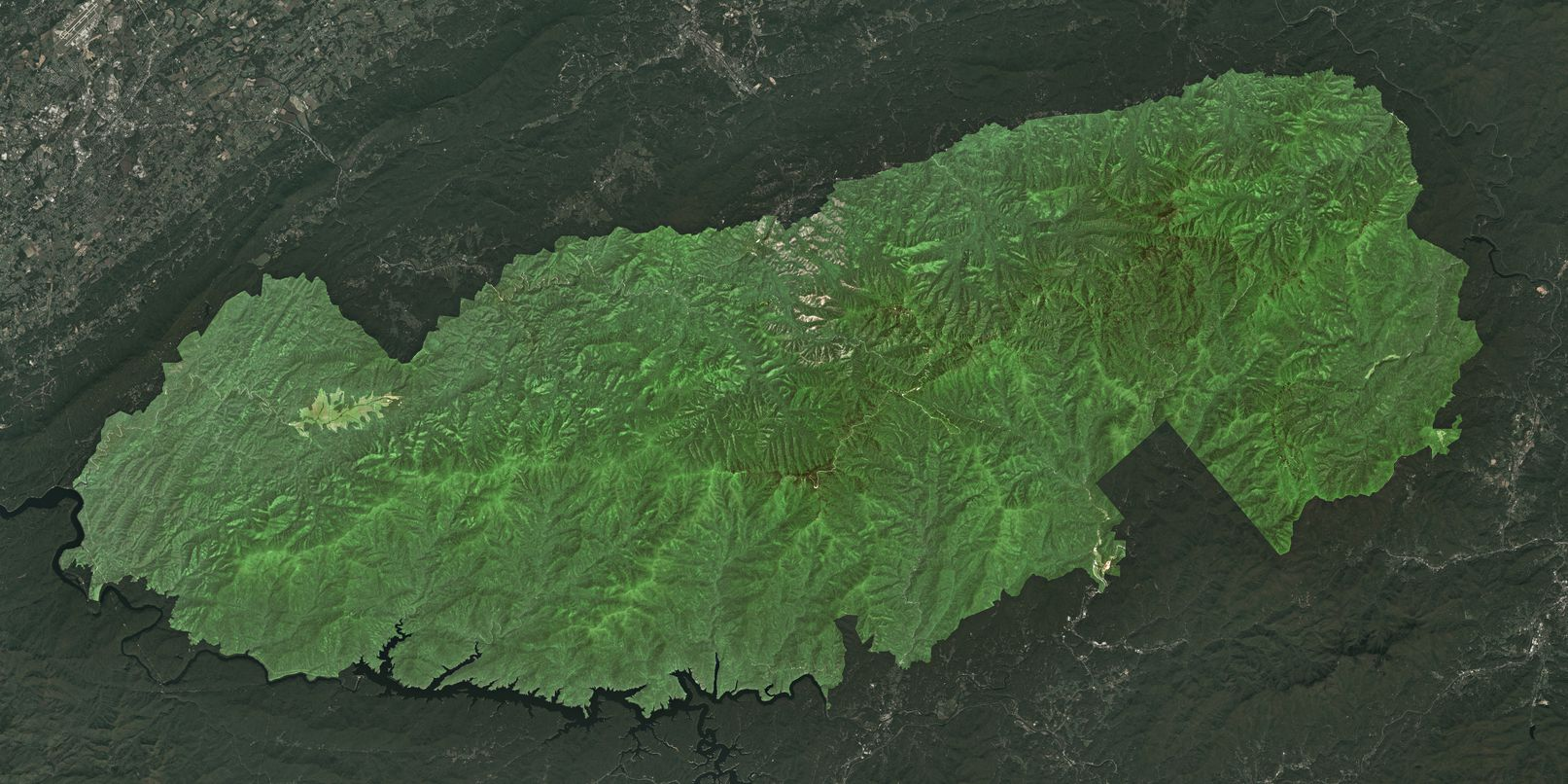 Map of Great Smoky Mountains