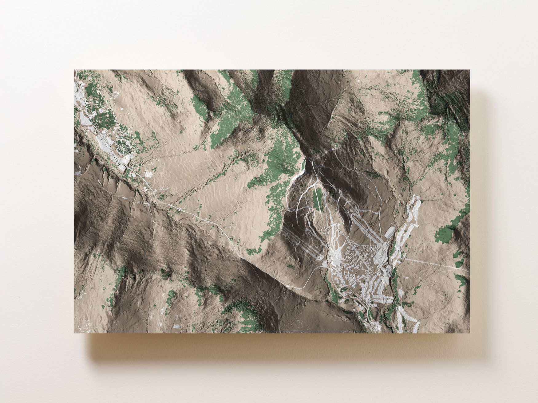 Jay Peak Wall Map