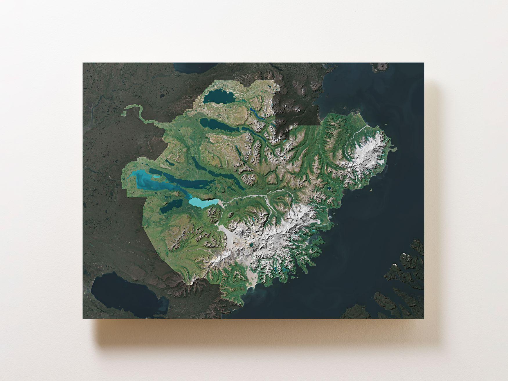 Katmai National Park Wall Map