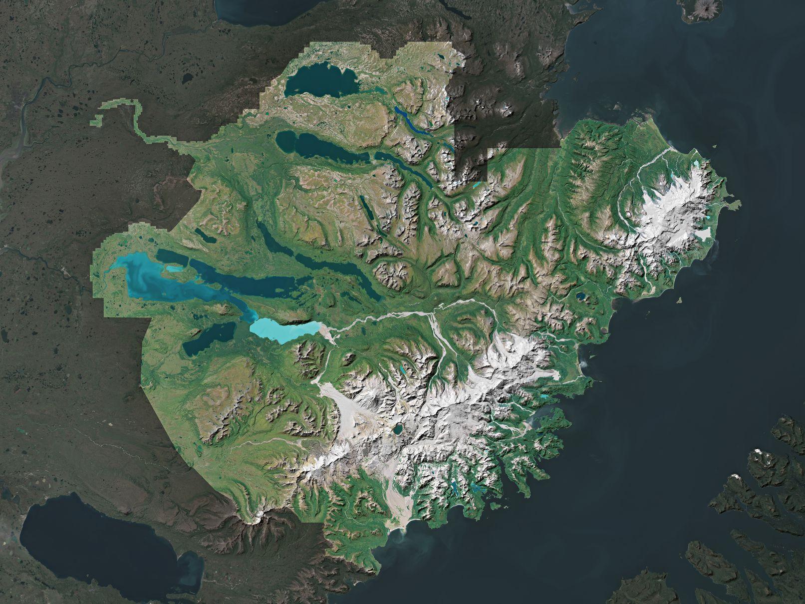 Map of Katmai National Park