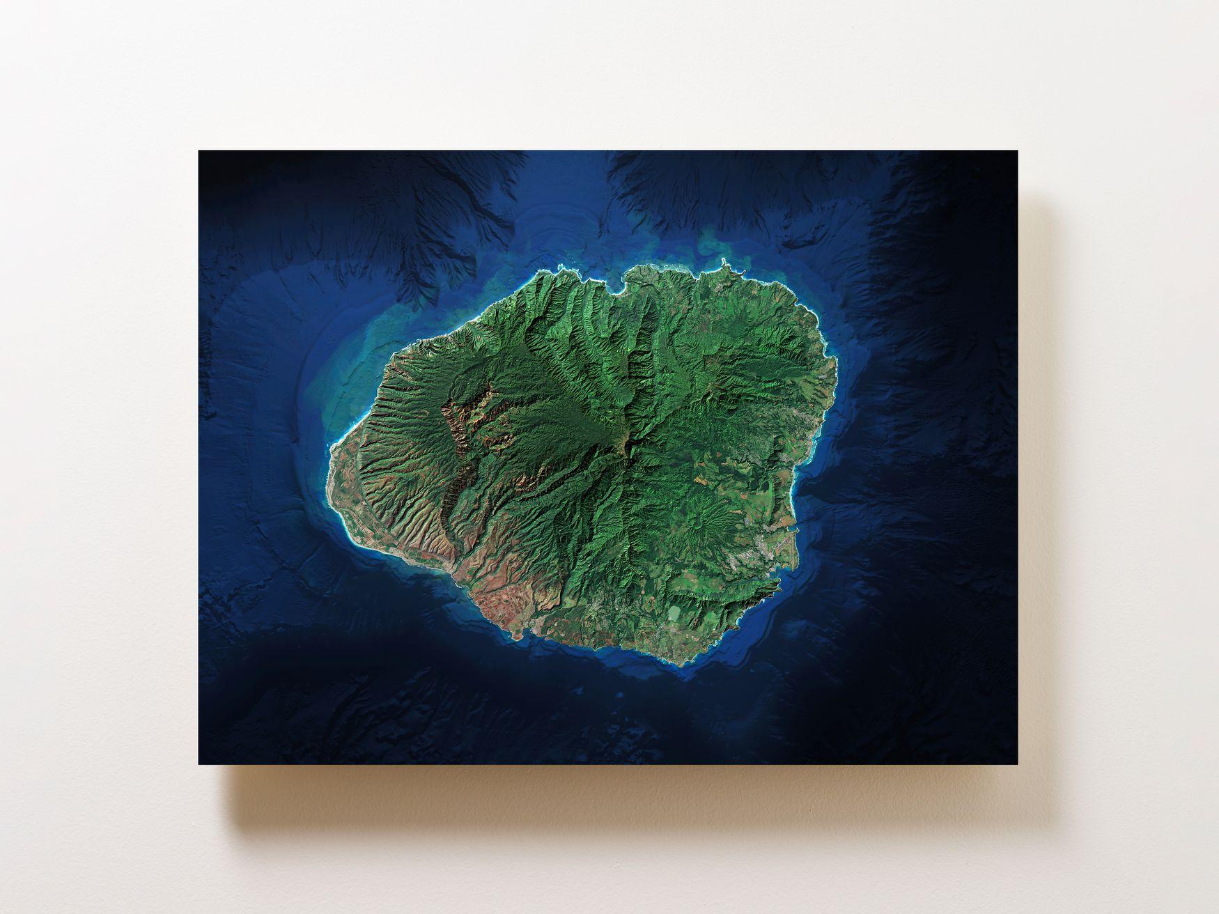 Kauai Wall Map