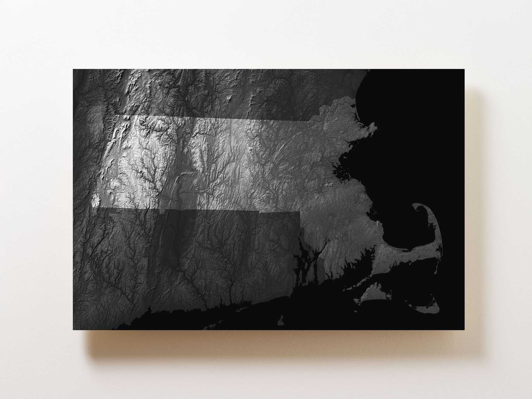 Massachusetts Wall Map