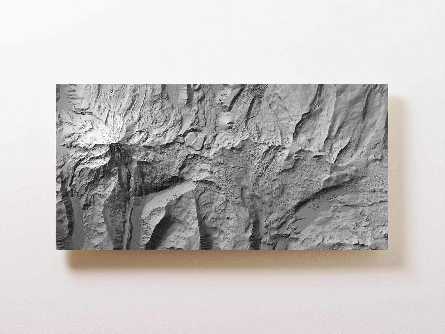 Mount Jefferson Wall Map