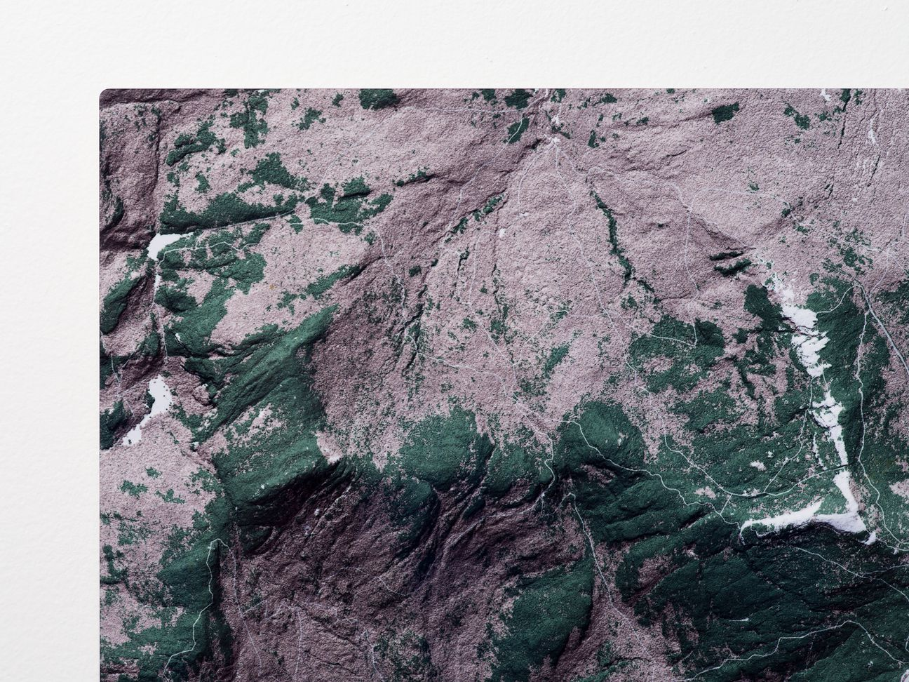 Mount Mansfield Aluminum Map Detail
