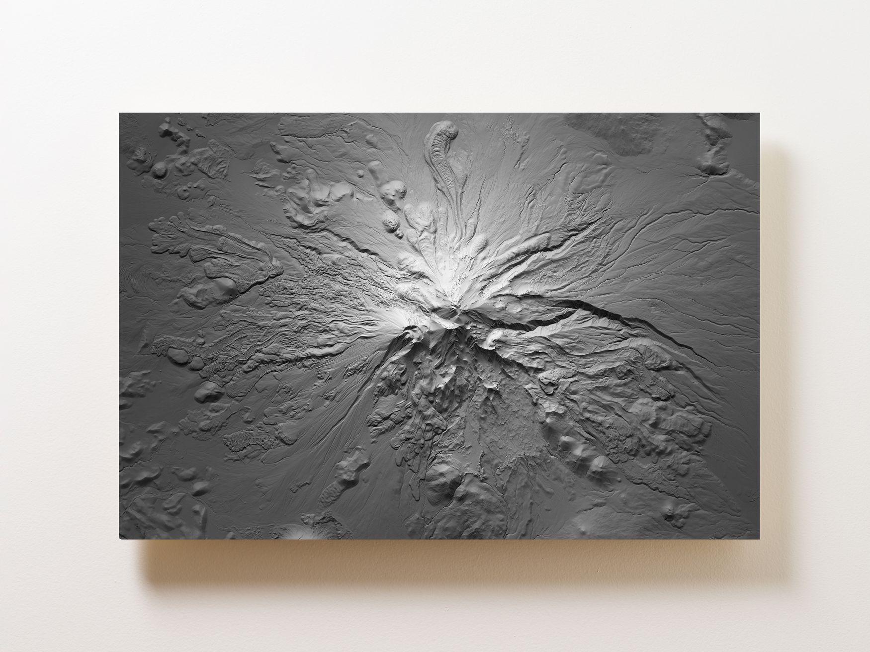 Mount Shasta Wall Map