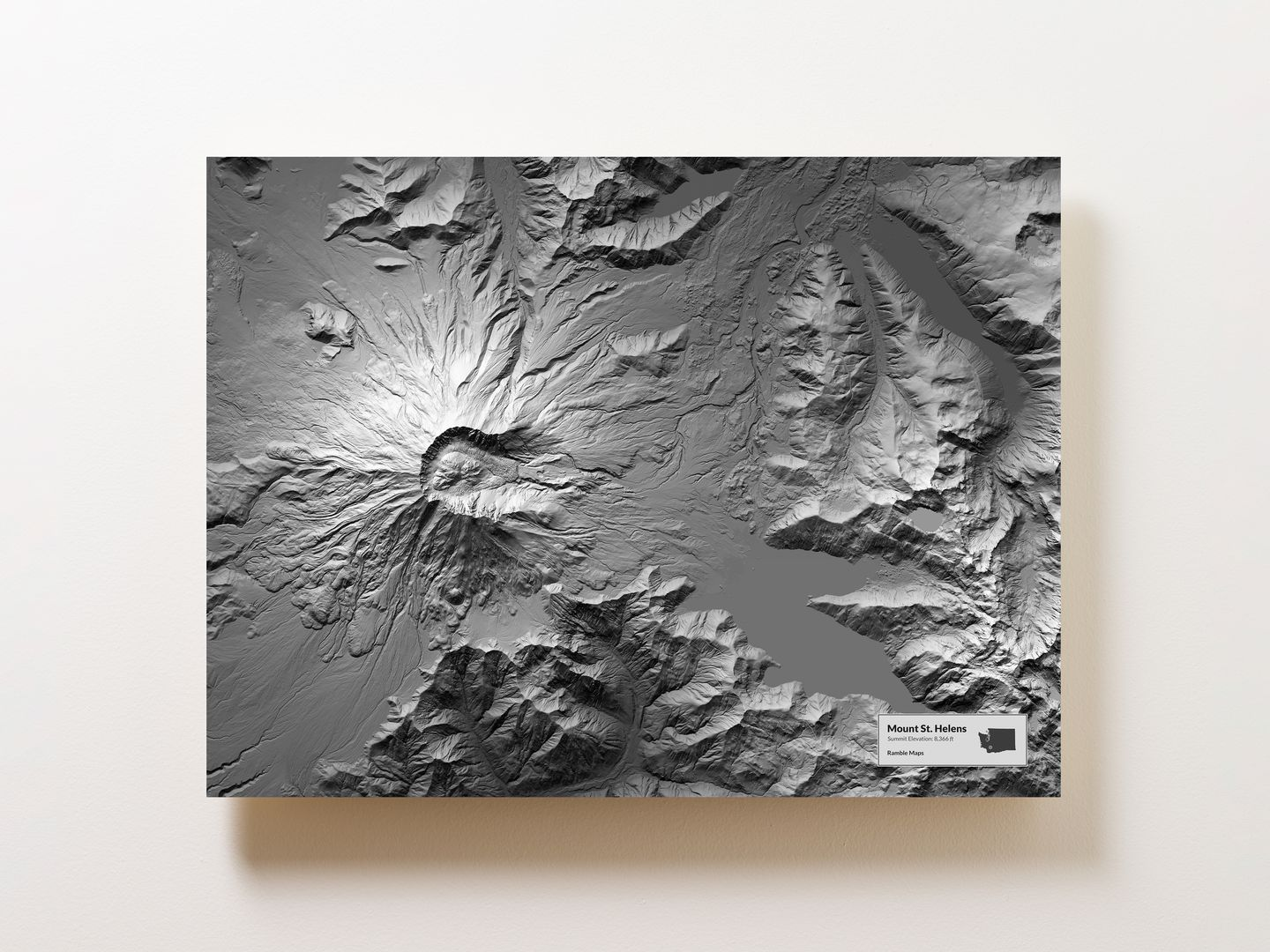 Mount St Helens Wall Map