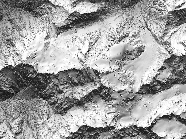 Mount Olympus Glaciers Detail