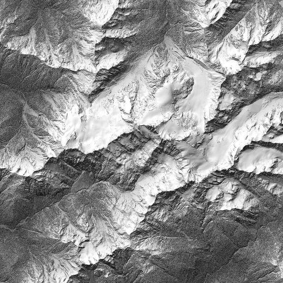 Mount Olympus Map in LiDAR