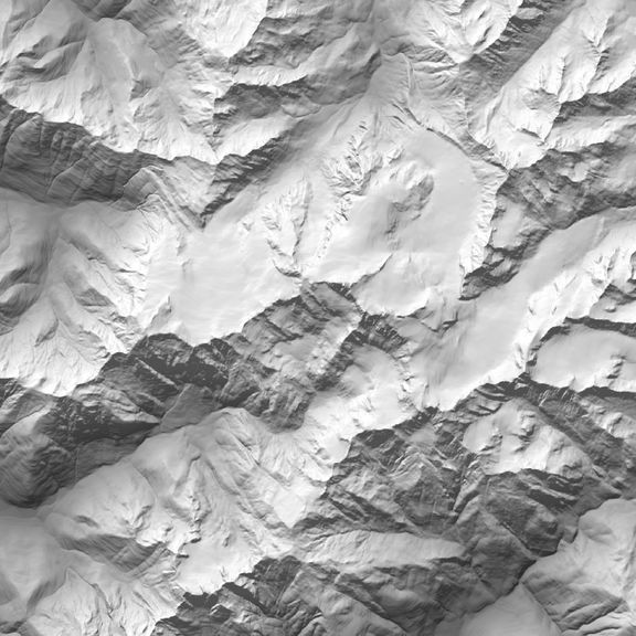 Mount Olympus Map in traditional 1/3 arc second DEM
