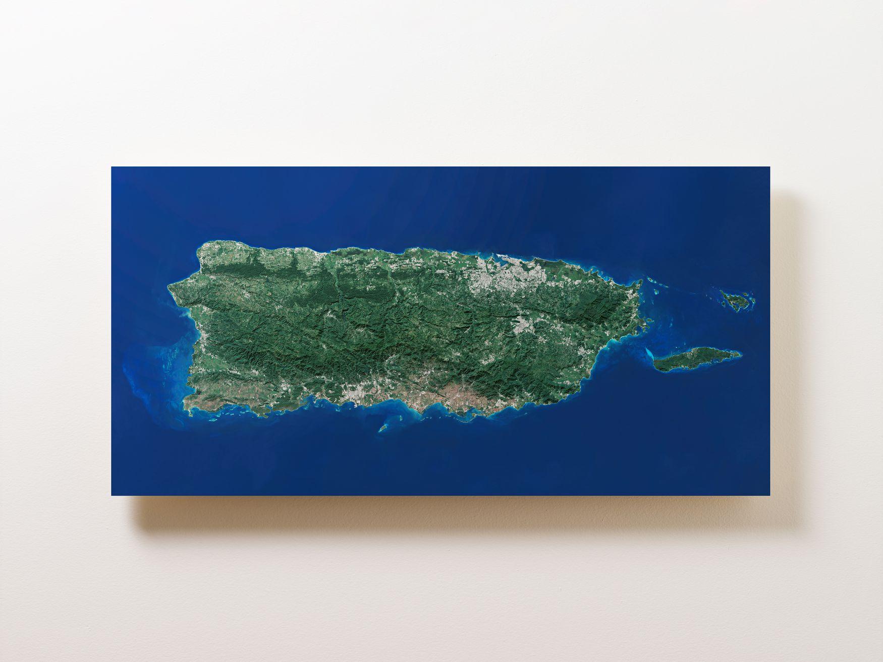 Puerto Rico Wall Map