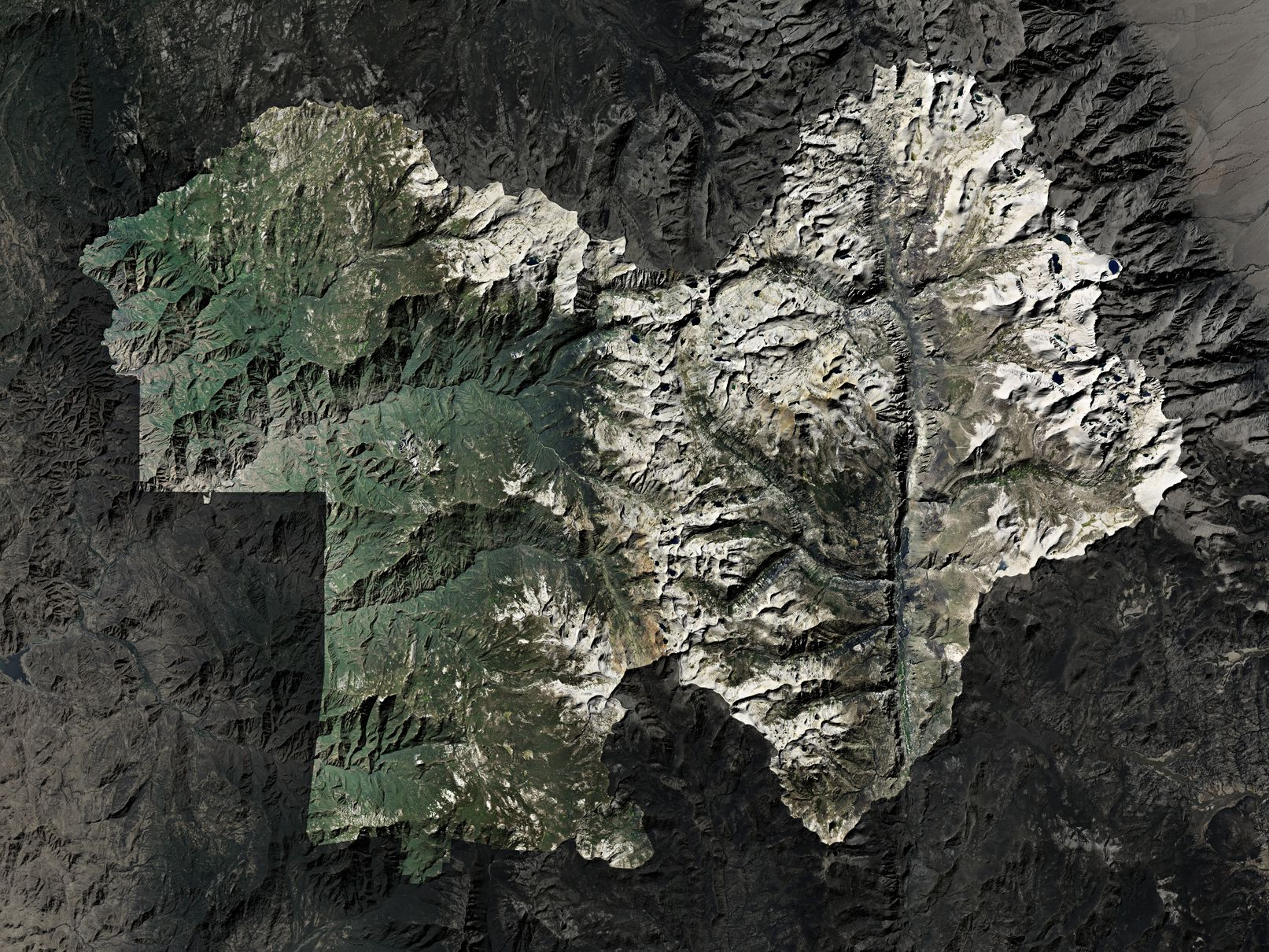 Map of Sequoia National Park